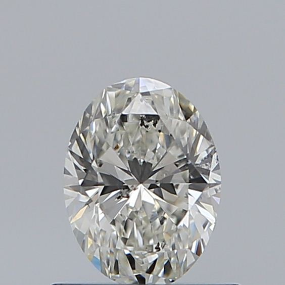 0.50 Carat Oval Loose Diamond, H, SI2, Super Ideal, GIA Certified