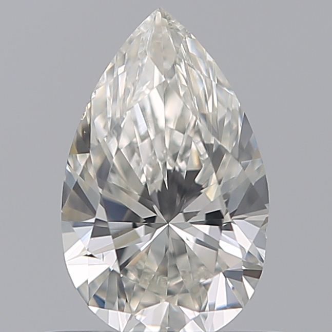 0.50 Carat Pear Loose Diamond, I, VS2, Ideal, GIA Certified