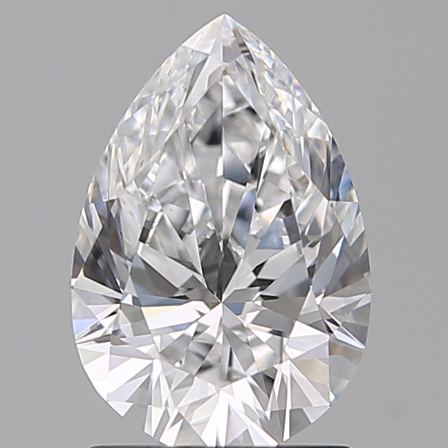 1.29 Carat Pear Loose Diamond, D, VVS2, Super Ideal, GIA Certified