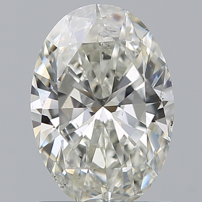 0.90 Carat Oval Loose Diamond, J, SI2, Super Ideal, GIA Certified | Thumbnail