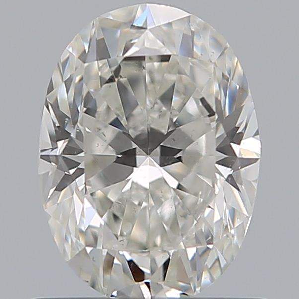 0.90 Carat Oval Loose Diamond, H, VS2, Excellent, GIA Certified