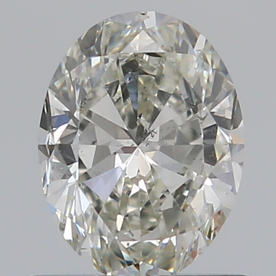 0.70 Carat Oval Loose Diamond, I, SI2, Ideal, GIA Certified