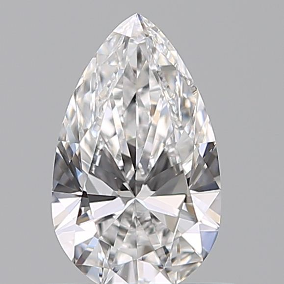 0.50 Carat Pear Loose Diamond, E, VVS2, Super Ideal, GIA Certified