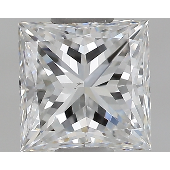 0.52 Carat Princess Loose Diamond, E, VS2, Super Ideal, GIA Certified