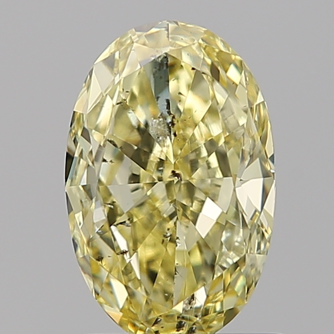 1.22 Carat Oval Loose Diamond, FANCY, SI2, Excellent, GIA Certified