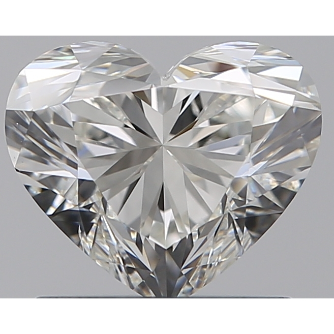 0.90 Carat Heart Loose Diamond, H, SI1, Super Ideal, GIA Certified