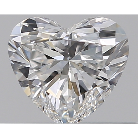 0.31 Carat Heart Loose Diamond, F, VVS1, Ideal, GIA Certified | Thumbnail