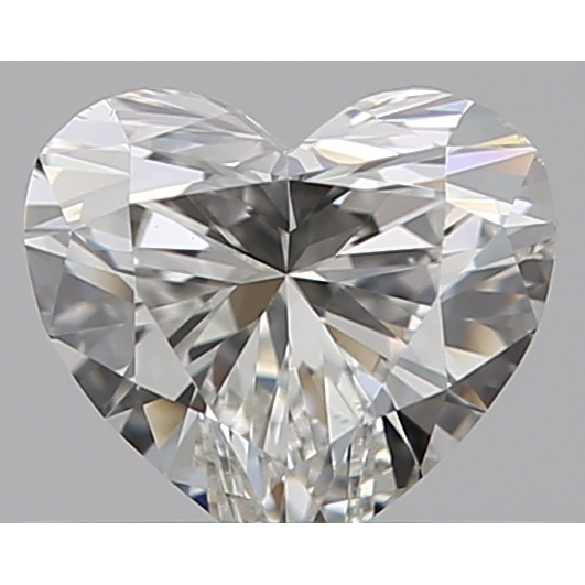 0.40 Carat Heart Loose Diamond, H, VS2, Super Ideal, GIA Certified | Thumbnail