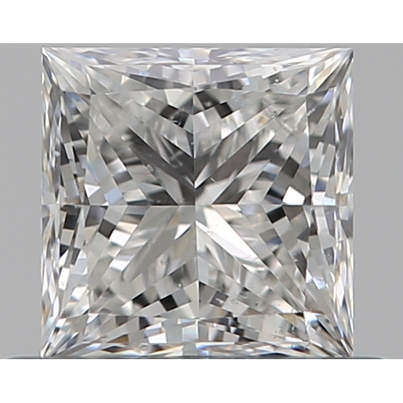 0.53 Carat Princess Loose Diamond, F, SI1, Super Ideal, GIA Certified