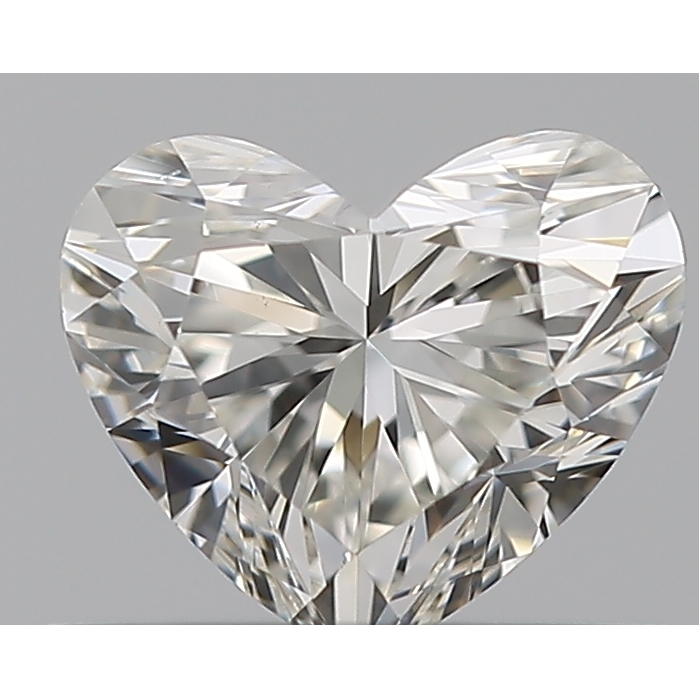 0.40 Carat Heart Loose Diamond, H, VS2, Ideal, GIA Certified