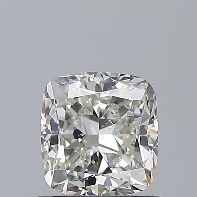 0.91 Carat Cushion Loose Diamond, J, SI1, Excellent, GIA Certified