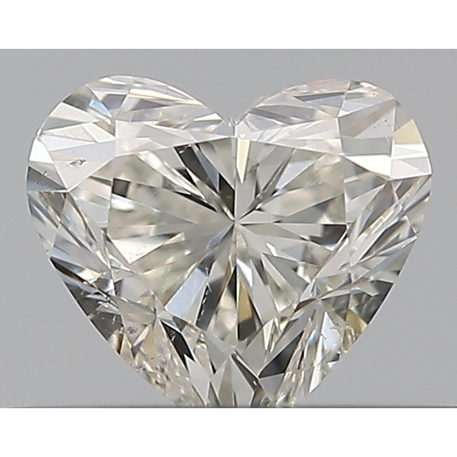 0.30 Carat Heart Loose Diamond, J, SI2, Excellent, GIA Certified