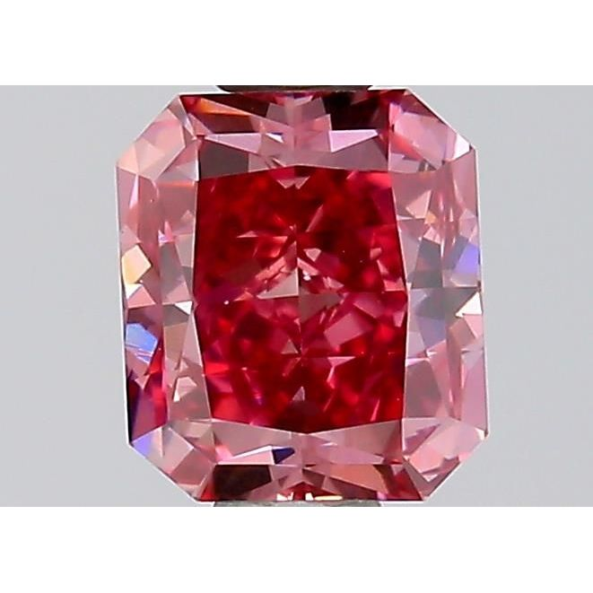 0.54 Carat Radiant Loose Diamond,  FANCY INTENSE PINK NATURAL EVEN, VS2, Very Good, GIA Certified