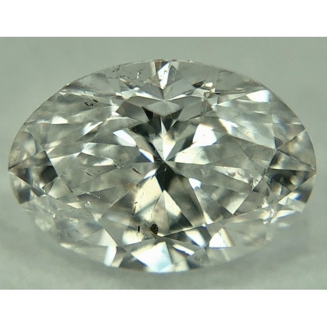 0.51 Carat Oval Loose Diamond, E, I1, Excellent, GIA Certified