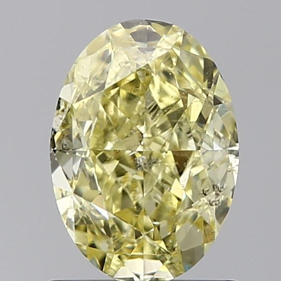 1.21 Carat Oval Loose Diamond, FANCY, SI2, Ideal, GIA Certified