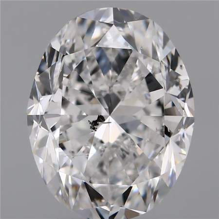 3.01 Carat Oval Loose Diamond, D, SI2, Excellent, GIA Certified | Thumbnail