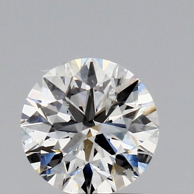 0.73 Carat Round Loose Diamond, F, I1, Ideal, GIA Certified