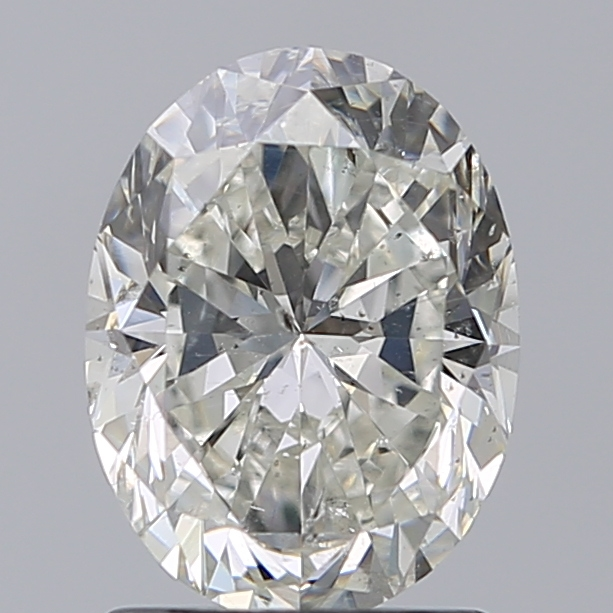 1.50 Carat Oval Loose Diamond, I, SI2, Excellent, GIA Certified