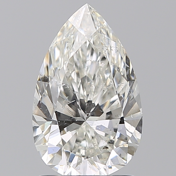 1.50 Carat Pear Loose Diamond, H, SI2, Ideal, GIA Certified