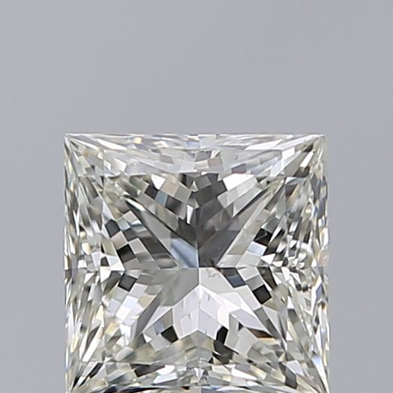 0.96 Carat Princess Loose Diamond, J, SI2, Super Ideal, GIA Certified