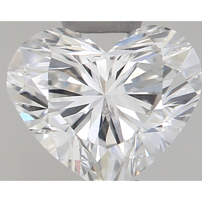 0.38 Carat Heart Loose Diamond, F, SI2, Excellent, GIA Certified