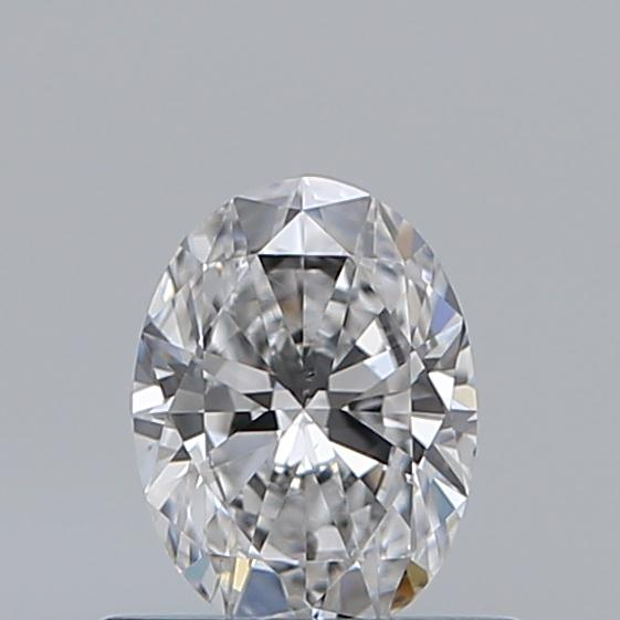 0.47 Carat Oval Loose Diamond, D, SI1, Super Ideal, GIA Certified | Thumbnail