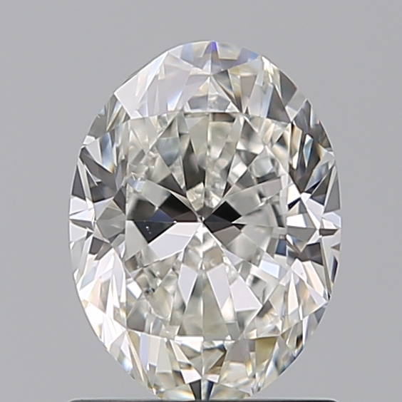 1.00 Carat Oval Loose Diamond, H, VS1, Excellent, GIA Certified