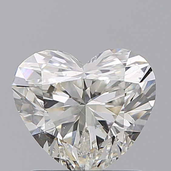 1.00 Carat Heart Loose Diamond, J, SI2, Ideal, GIA Certified