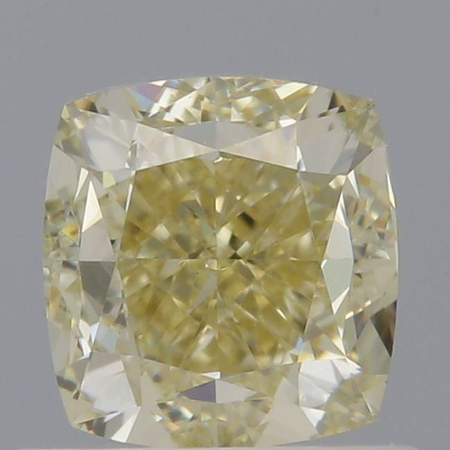 1.00 Carat Cushion Loose Diamond, Fancy Yellow, VS1, Very Good, GIA Certified