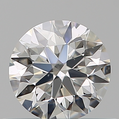 0.41 Carat Round Loose Diamond, H, VS2, Super Ideal, GIA Certified