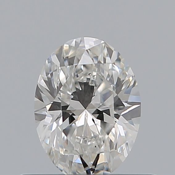 0.42 Carat Oval Loose Diamond, F, VS2, Very Good, GIA Certified