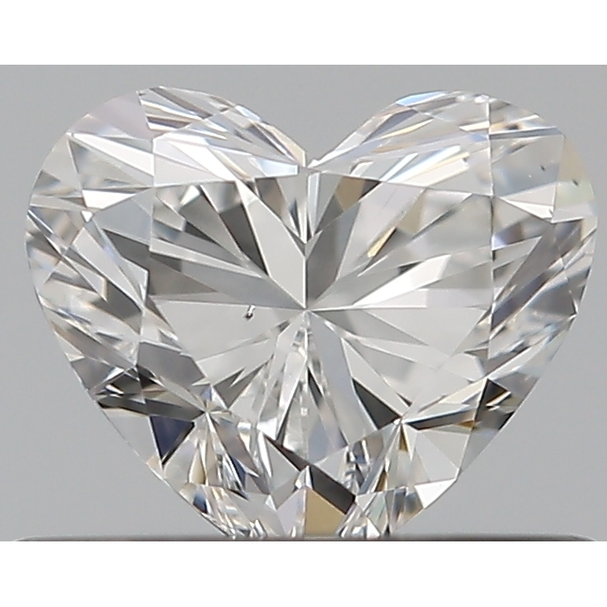 0.41 Carat Heart Loose Diamond, F, SI1, Super Ideal, GIA Certified | Thumbnail