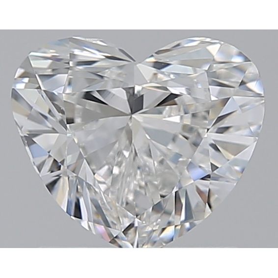 1.00 Carat Heart Loose Diamond, E, VS2, Excellent, GIA Certified