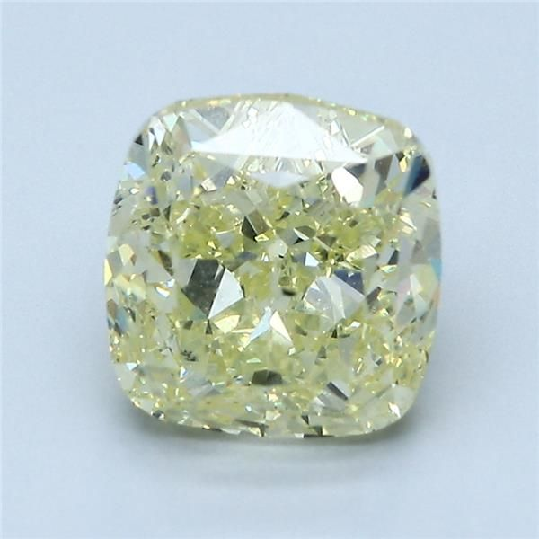 3.71 Carat Cushion Loose Diamond, FY FY, SI1, Excellent, GIA Certified
