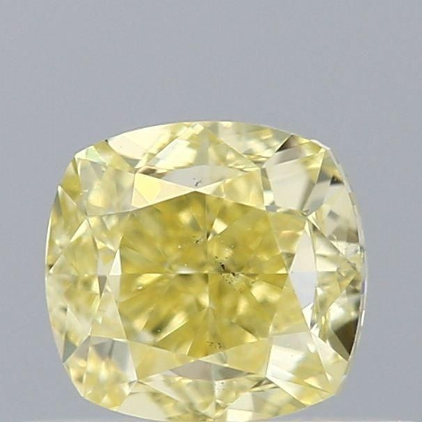 0.50 Carat Cushion Loose Diamond, Yellow Yellow, SI1, Excellent, GIA Certified