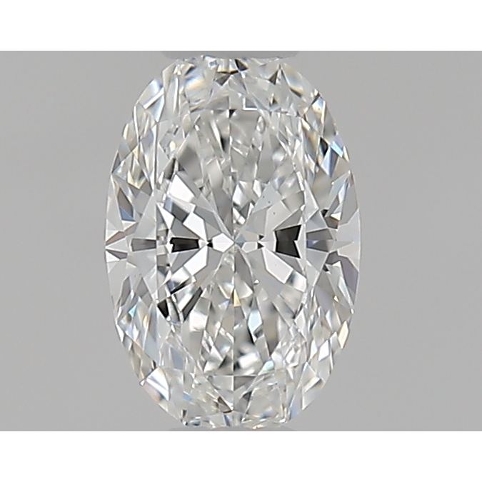 0.42 Carat Oval Loose Diamond, F, VS1, Super Ideal, GIA Certified