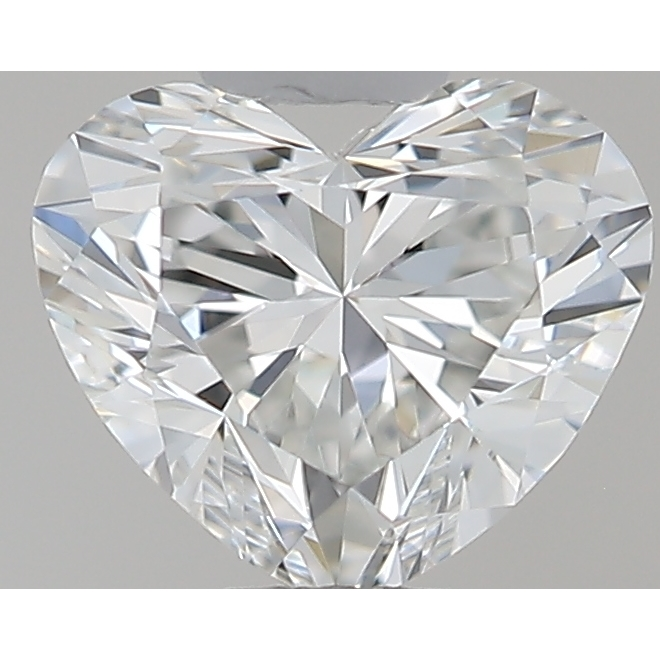 0.34 Carat Heart Loose Diamond, F, IF, Super Ideal, GIA Certified