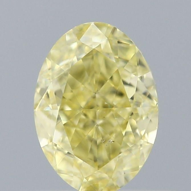 0.50 Carat Oval Loose Diamond, Yellow Yellow, SI1, Excellent, GIA Certified