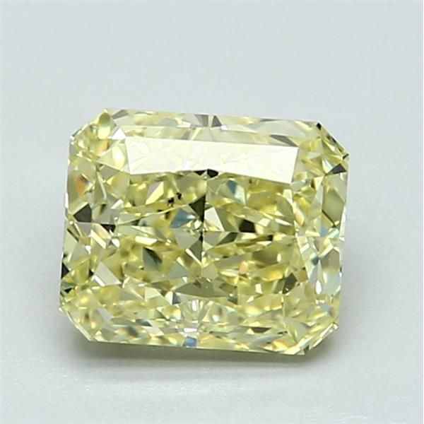 1.51 Carat Radiant Loose Diamond, FY FY, SI1, Excellent, GIA Certified