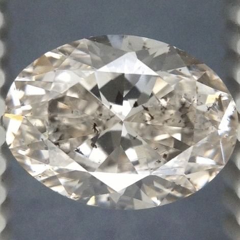 1.00 Carat Oval Loose Diamond, H, SI2, Super Ideal, EGL Certified | Thumbnail