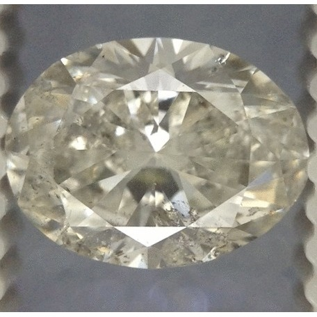 0.89 Carat Oval Loose Diamond, H, SI2, Ideal, EGL Certified | Thumbnail