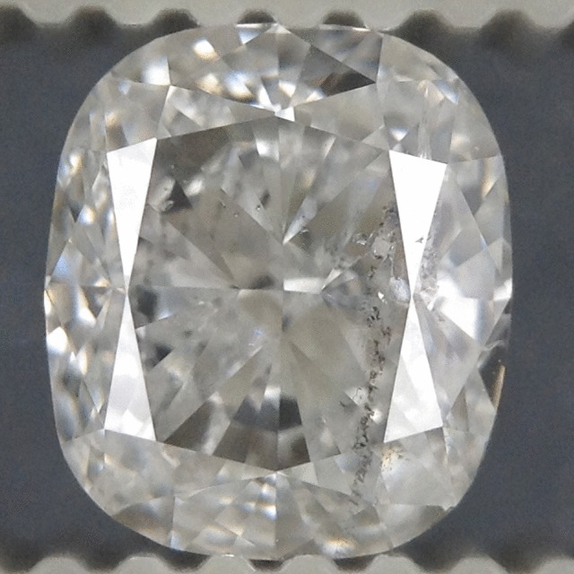 0.96 Carat Cushion Loose Diamond, D, SI2, Super Ideal, EGL Certified | Thumbnail