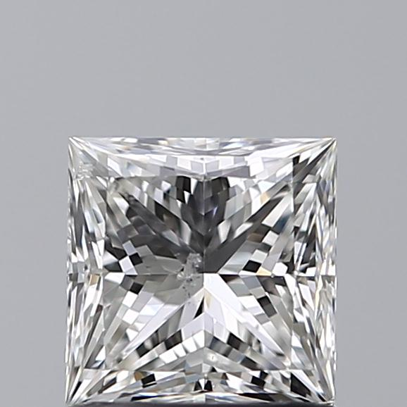 1.00 Carat Princess Loose Diamond, H, SI2, Super Ideal, GIA Certified