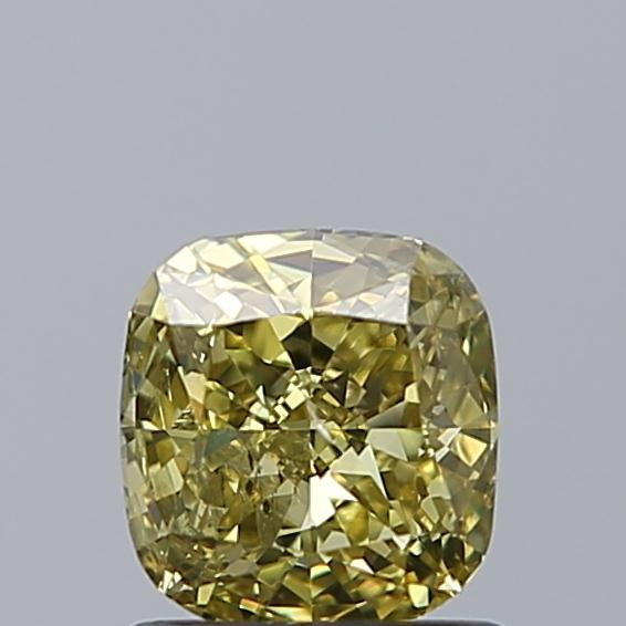 0.96 Carat Cushion Loose Diamond, FANCY, I1, Ideal, GIA Certified