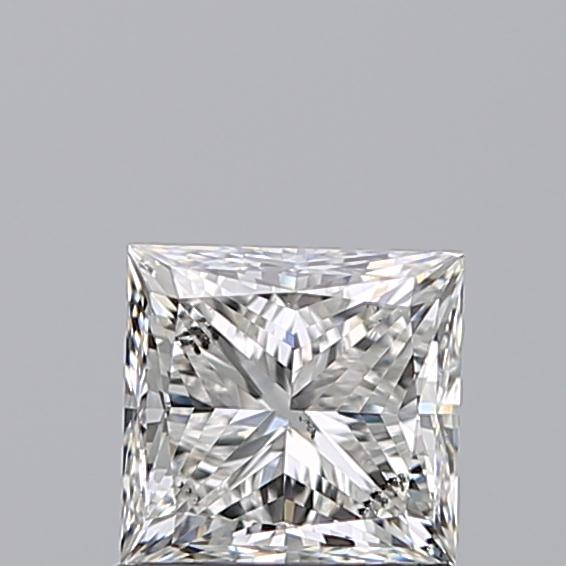 1.00 Carat Princess Loose Diamond, F, SI2, Excellent, GIA Certified | Thumbnail