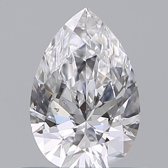 0.50 Carat Pear Loose Diamond, D, SI2, Ideal, GIA Certified
