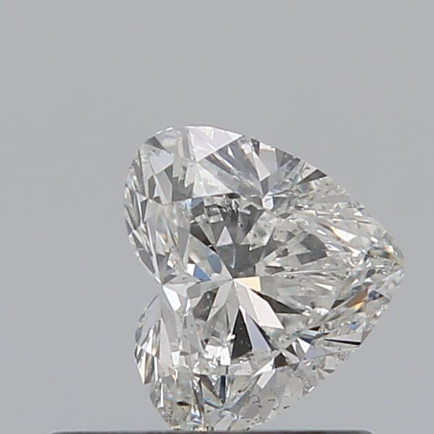 0.50 Carat Heart Loose Diamond, G, SI2, Super Ideal, GIA Certified | Thumbnail