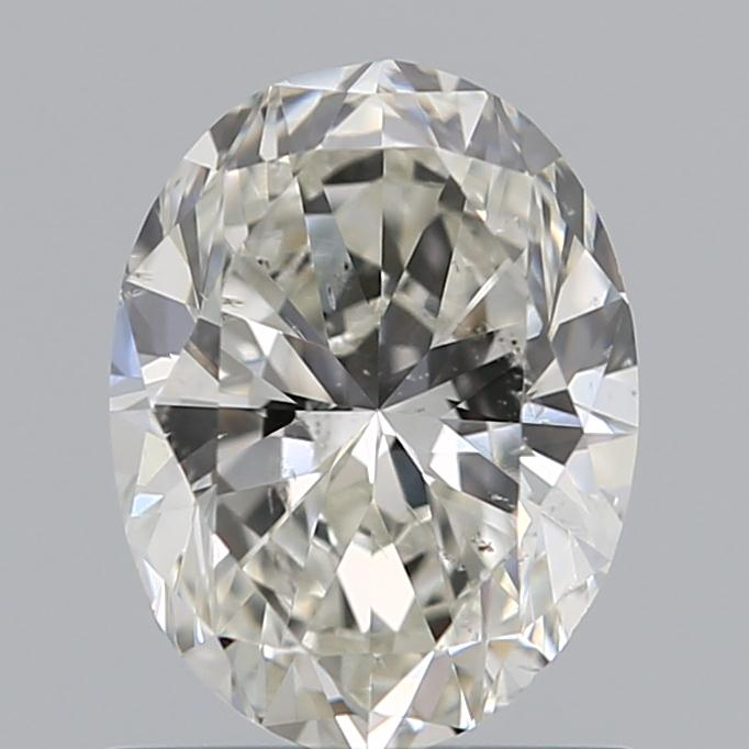0.90 Carat Oval Loose Diamond, H, SI2, Excellent, GIA Certified