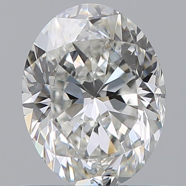 0.75 Carat Oval Loose Diamond, H, VVS1, Excellent, GIA Certified