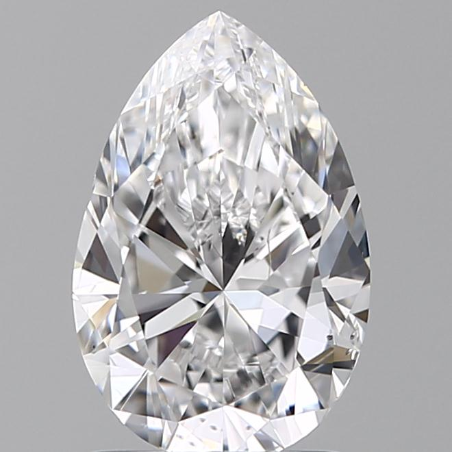 1.50 Carat Pear Loose Diamond, D, SI1, Excellent, GIA Certified